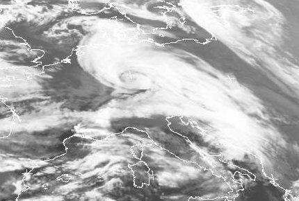 Infrarot-Satellitenbild